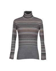 Kangra Cashmere Knitwear Turtlenecks Men Grey