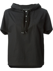 Marc By Marc Jacobs Short Sleeve Hooded Top Black