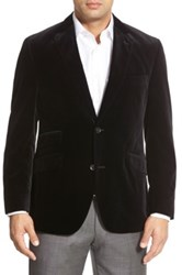 Kroon 'Sting' Two Button Cotton Blazer Black