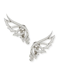 Magnipheasant Pave Diamond Wing Stud Earrings Stephen Webster