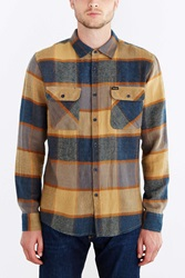 Brixton Bowery Flannel Button Down Shirt Yellow