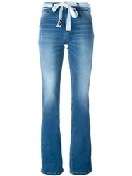 Twin Set Jeans Belted Bootcut Jeans Blue