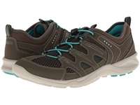 Ecco Sport Terracruise Lite Warm Grey Dark Clay Turquoise Synthetic Textile Decoration Women's Shoes Brown