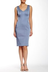 Zac Posen Pia Sheath Dress Blue