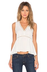 1. State V Neck Hi Low Top Beige
