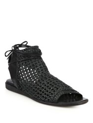 Ld Tuttle The String Woven Leather Sandals Black