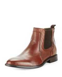 English Laundry Edgeware Leather Snake Embossed Boot Brown