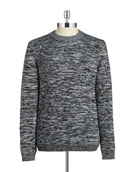 Strellson Heathered Crewneck Sweater Black