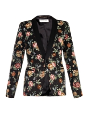 Saint Laurent Floral Tapestry Single Breasted Jacket