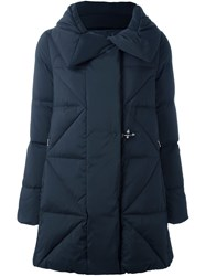 Fay Padded Quilted Coat Black