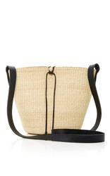 Sensi Studio Straw Bucket Bag Tan