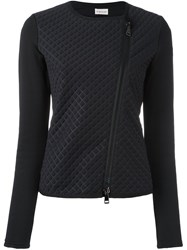 Moncler Quilted Front Cropped Jacket Black
