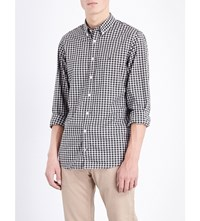 Tommy Hilfiger Slim Fit Gingham Print Cotton Shirt Rosin Pt Cloud Htr