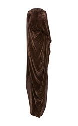 Rick Owens Velvet Sheath Dress Brown
