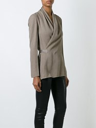 Rick Owens Textured Wrap Blouse Nude And Neutrals