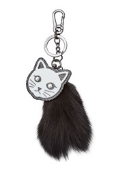 Karl Lagerfeld Keychain With Fur Black