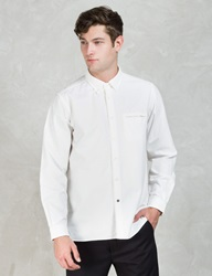 Ivory 'Brian' Front Tape Button Down Oxford Shirt