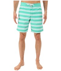 Lacoste Stripe Swim Boardshorts 8 Papeete White Men's Swimwear Blue