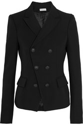 Balenciaga Double Breasted Wool Crepe Blazer Black