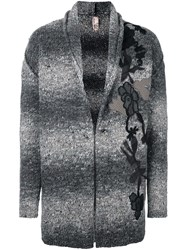 Antonio Marras Floral Patch Cardigan Grey