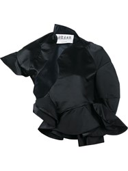 Awake Asymmetric Ruffle Jacket Black