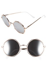 Women's A.J. Morgan 'Clayton' 48Mm Octagon Wire Sunglasses