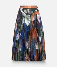 Christopher Kane Rubbish Print Pleated Skirt Yellow And Orange