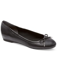 Rockport Women's Total Motion Round Toe Ballet Flats Women's Shoes Black