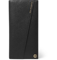 Kingsman Smythson Panama Leather Travel Wallet Black