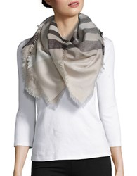 Lord And Taylor Plaid Blanket Scarf Taupe
