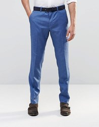 Asos Slim Suit Trousers In Blue Blue