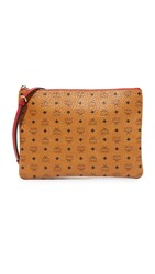 Mcm Medium Cross Body Pouch Cognac