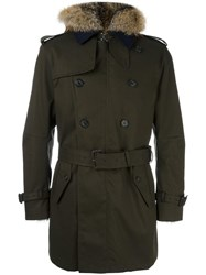 Sealup High Neck Mid Trenchcoat Brown