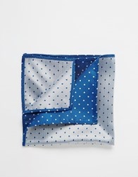 French Connection Spot Pocket Square Blue