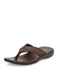 Kenneth Cole Get In Shape Leather Thong Sandal Brown