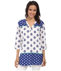 Hatley Classic Taped Tunic Royal Thistles Women's Clothing White