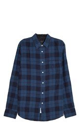 Rag And Bone Plaid Shirt Blue