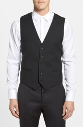 Men's Calibrate Wool And Mohair Vest Black