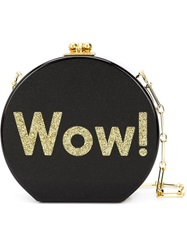 Edie Parker 'Wow' Shoulder Bag Black