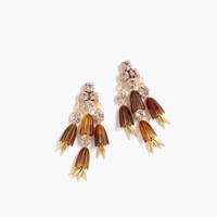 J.Crew Dahlia Drop Earrings Tortoise