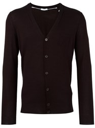 Paolo Pecora V Neck Cardigan Brown
