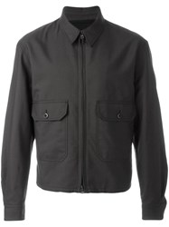 Christophe Lemaire Zipped Shirt Jacket Brown
