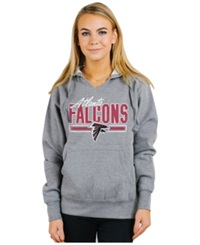 Authentic Nfl Apparel Women's Atlanta Falcons Holiday Logo Hoodie Light Gray