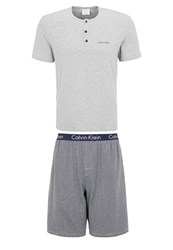 Calvin Klein Underwear Set Pyjamas Mottled Grey
