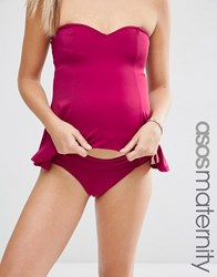 Asos Maternity Fold Over Bikini Bottom Snob Purple