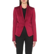 Haider Ackermann Shawl Lapel Crepe Blazer Jacket Blood