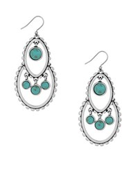 Lucky Brand Turquoise Natives Tribal Drop Earrings
