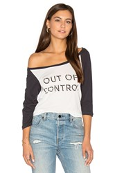 Clayton Out Of Control Baseball Tee White