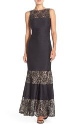 Women's London Times Lace Inset Jersey Mermaid Gown