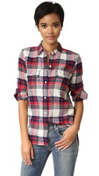 Madewell Ex Bf Shirt Flame Red